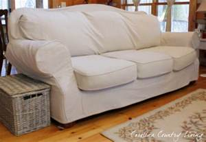 Crate And Barrel Slipcovers Carolina Country Living Drop Cloth Sofa Slipcover