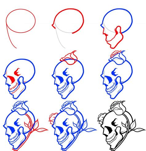 how to draw a tattoo rose step by step how to draw skulls how to draw skulls draw skulls