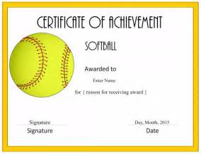 Free Softball Certificate Templates by Free Softball Certificate Templates Customize