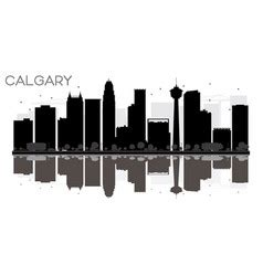 Calgary Outline by Black White Canada Outline Map Vector Image By Bfordyce Image 950689 Vectorstock