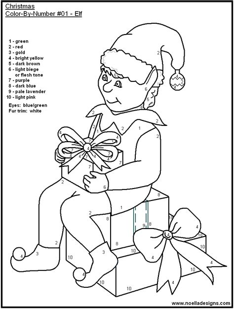 coloring pages by numbers for christmas christmas color by number pages coloring home