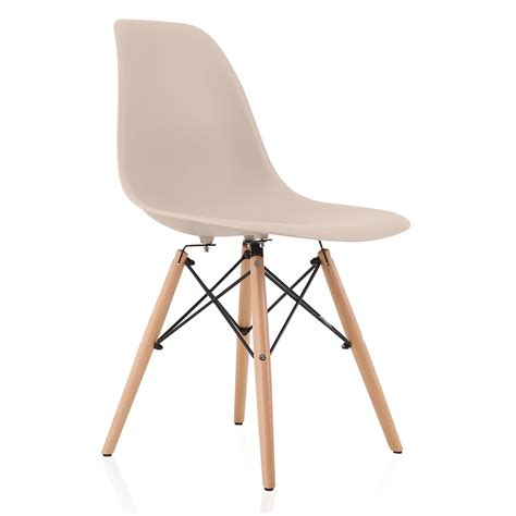 Dsw Dining Chair Nature Series Beige Eames Style Dsw Molded Plastic Dining Side Chair Beech Wood