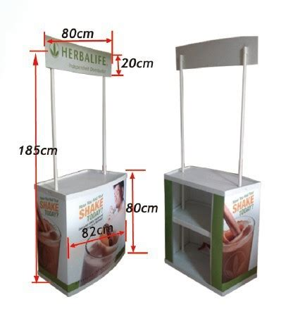 Sekop Lipat Portable Outdoor Small pvc abs material promotional stand portable demo table