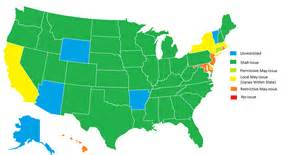 Usa Concealed Carry Map by Where May Issue Is Essentially No Issue The Truth