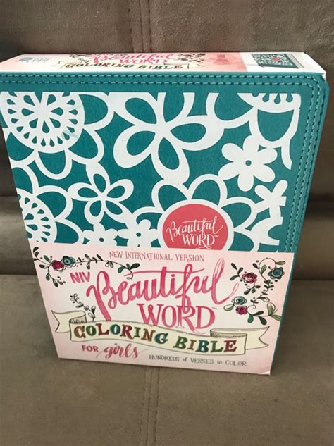 niv beautiful word coloring bible  girls woman