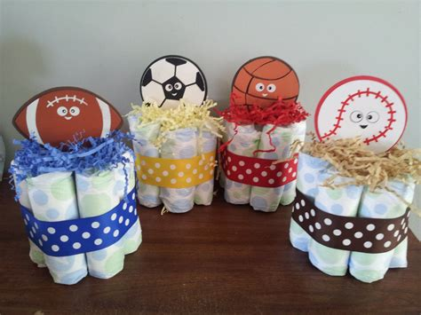 Sports Themed Baby Shower by 1 Sports Theme Mini Cake Baby Shower Centerpiece