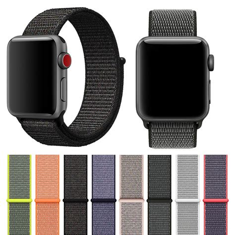 Apple Loop Kanvas Iwatch Iwo 2 38mm 42mm fohuas lightweight breathable sport loop band for apple series 3 2 1 42mm 38mm for
