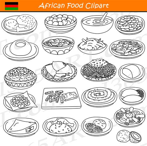 food clipart black and white food clipart commercial international food