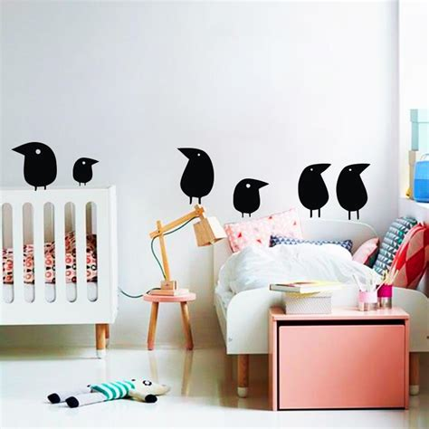 funky wallpaper home decor bird wall sticker home decor set of 6 birds bird vinyl