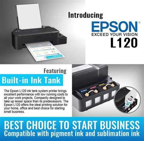 Printer Epson L120 Infus Original us seller new epson l120 inkjet color ink tank system