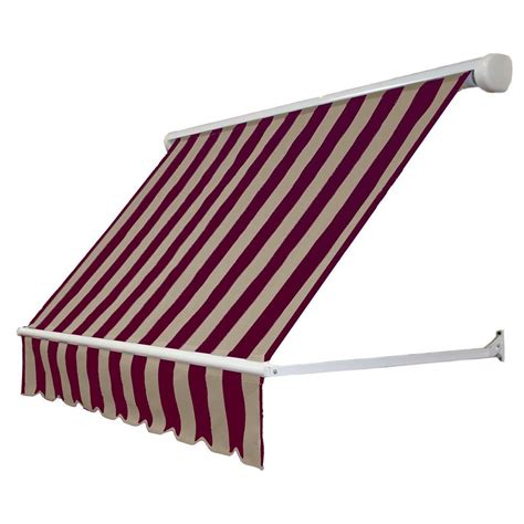 awntech retractable awning awntech 4 ft mesa window retractable awning 24 in projection in burgundy tan me4