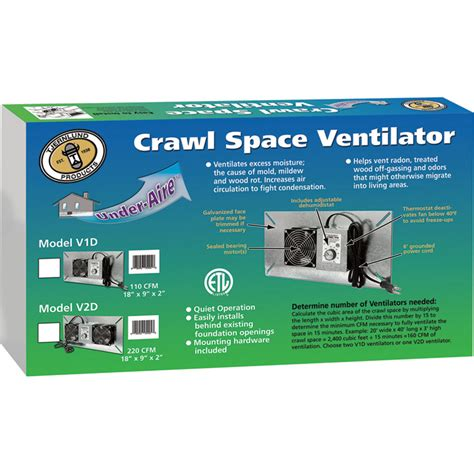 crawl space fan with humidistat tjernlund underaire crawl space ventilator deluxe two