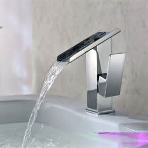 Unique Bathroom Faucets by Jollyhome Unique Design Single Hole Waterfall Basin Faucet