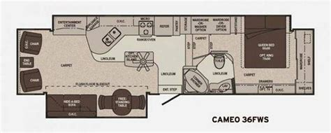 carriage rv floor plans 2011 carriage cameo 36fws fifth wheel