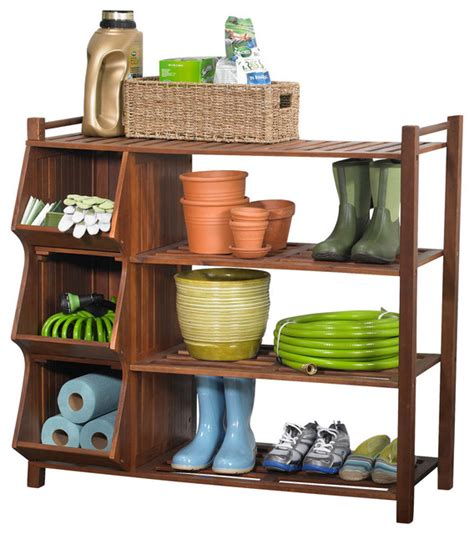 outside shoe storage 4 tier outdoor shoe rack and cubby transitional shoe