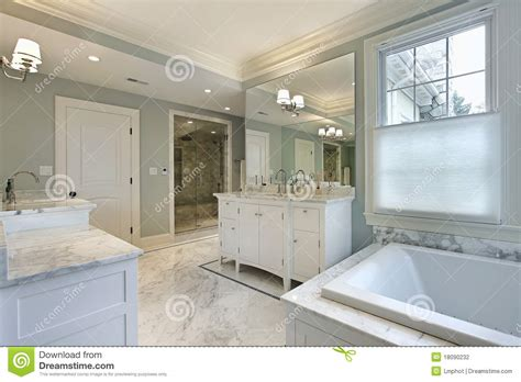 how big should a master bathroom be large master bath in luxury home stock photography image