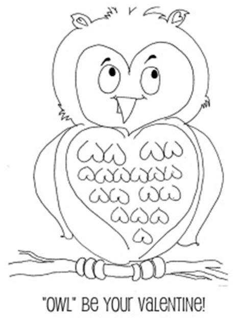 valentine owl coloring page 6 best images of printable valentine cards to color owls