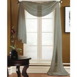 silver window valance gray silver scarf sheer voile window treatment curtain