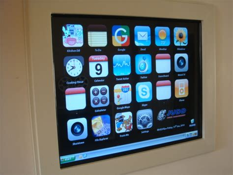 diy project custom made touch panel home automation diy