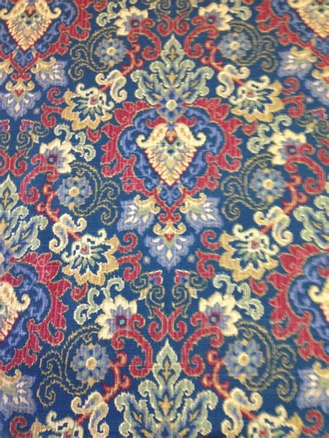 waverly drapery fabric by the yard waverly magic carpet saphire print cotton fabric by the