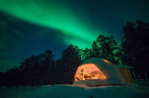northern lights dome hotel the most magical places to the northern lights