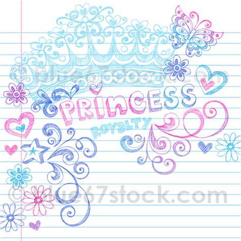 doodle name princess sketchy princess tiara crown doodle vector