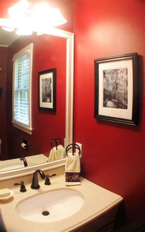 red wall bathroom best red paint for your home