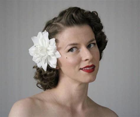 vintage wedding flowers in hair white hair flower floral fascinator vintage headpiece