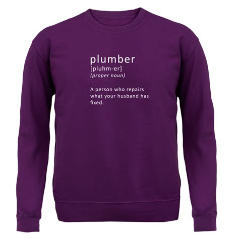Definition Plumbing by Define Plumber Unisex Sweater Jumper Plumbing