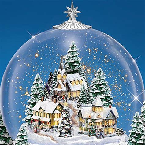 kinkade home for the holidays kinkade home for the holidays snowglobe lights