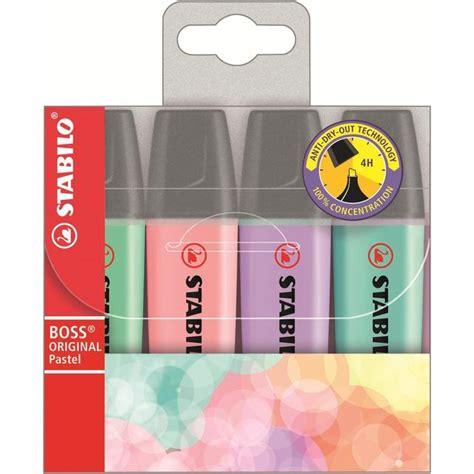 Highlighter Stabilo Pastel Colours morrisons stabilo pastel colours 4 highlighters 4 per pack product information