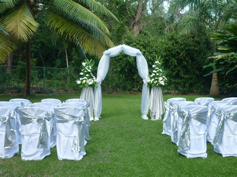 Wedding In Gardens Ideas Sunflower Events Barbados Weddings