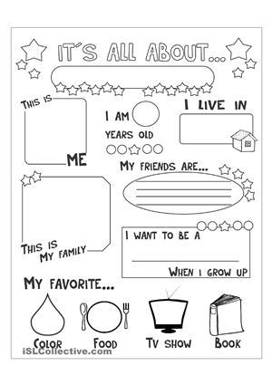 live like line like ellyn books 16 best images of all about me worksheet teenagers all