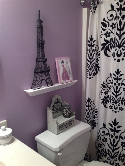 purple themed bathrooms accents paris themed bathroom pinterest
