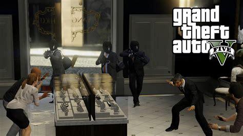 gta 5 person heist jewelry store ps4 gameplay