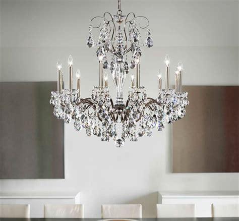 schonbek crystal chandeliers victorian dining room