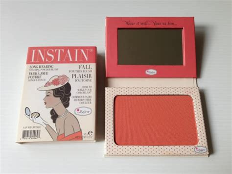 Thebalm Instain the made up maiden product review thebalm instain wearing powder staining blush in
