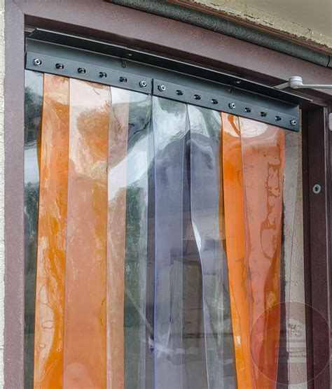 vinyl strip door curtain vinyl strip door curtain 4 x8 with mounting hardware