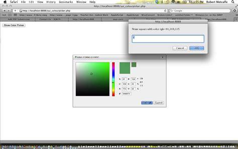 javascript yui tutorial yui ui colour picker primer tutorial robert metcalfe blog