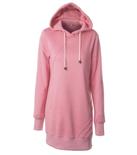 Sweater Hoodiee Jumper Sweater Pria Gc womens hooded sweatshirt sleeve sweater hoodies jumper mini dress ebay