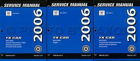 service and repair manuals 2006 cadillac xlr v user handbook 2006 cadillac xlr xlr v repair shop manual original 3 volume set