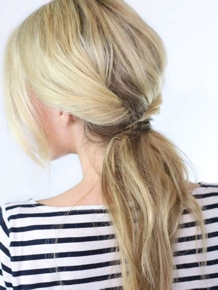 ponytailsmadeat the saloon 20 easy hairstyles to make at home