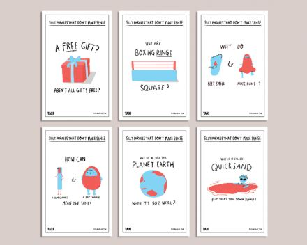 designtaxi mockup postcard set silly phrases by designtaxi on the bazaar