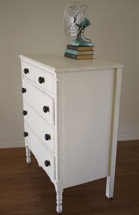 White Chalk Paint Dresser by Shabby White Dresser With Chalk Paint