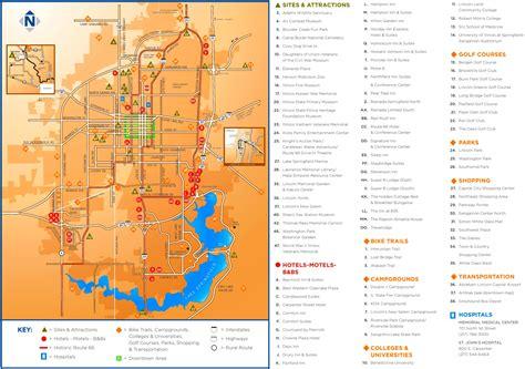 springfield il map springfield illinois tourist map