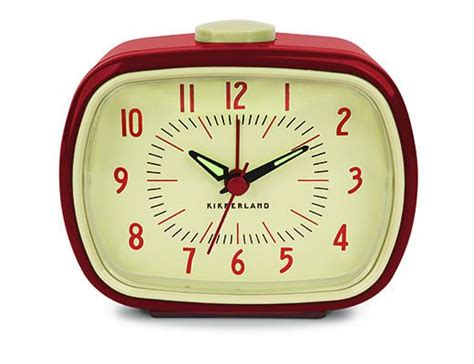 Retro Alarm Clock Red Kikkerland Design Inc