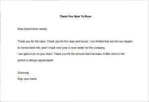 Raise And Bonus Letter 10 Thank You Notes To Free Sle Exle Format