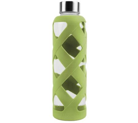 Lotion Bdl 550ml aquasana glass bottle with silicone sleeve qvc