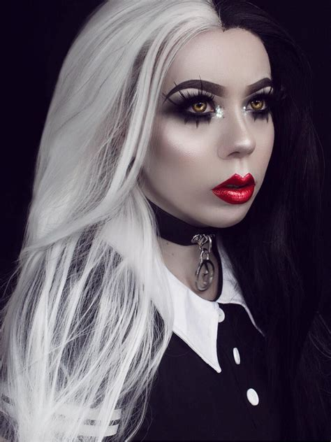 white black half black half white wavy synthetic lace front wig sny093