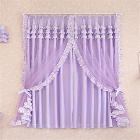 girls purple curtains aliexpress com buy custom made luxury purple cotton